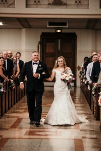 Who will walk you down the aisle, Alix chose her dad to walk her down the aisle.
