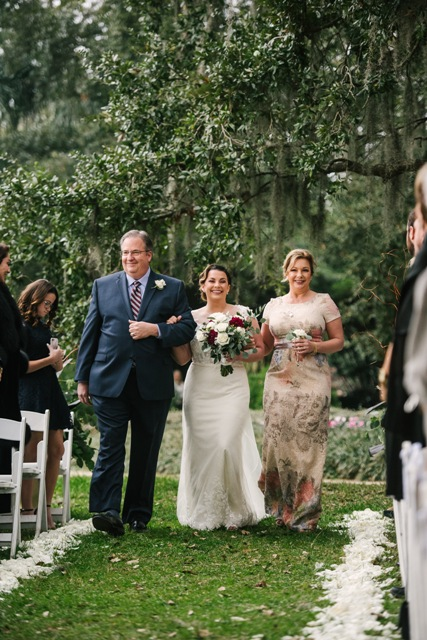 Who will walk you down the aisle? Anna chose both her mom and dad.