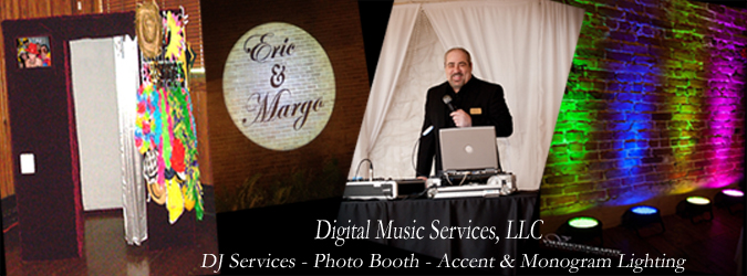 A photo depicting Mike Schauder, a DJ located in Lafayette, Louisiana who does photo booth, lighting and more, with Digital Music Services.
