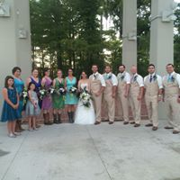 Outdoor wedding at UL Lafayette, Louisiana Student Union