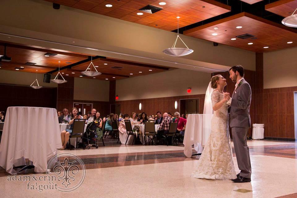 UL Lafayette Louisiana Student Union wedding reception Bride and Groom