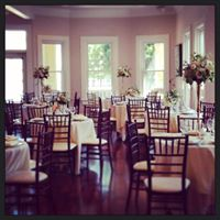 Beautiful wedding venue, Esprit de Coeur, shown with tables set up for a reception near lafayette louisiana.