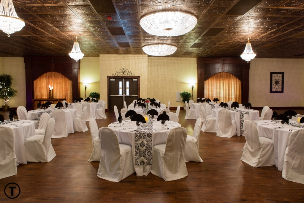 A wedding Reception setup at Reeves Uptown Catering in Lake Charles, Louisiana.