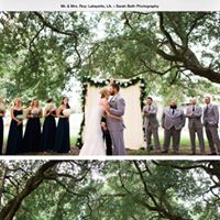A perfect outdoor wedding setup at The Madison, a wedding venue near Lafayette, Louisiana.
