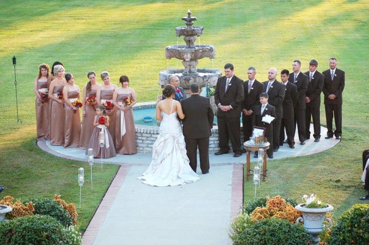 Amazing outdoor wedding at The Manor located in New Iberia, Louisiana