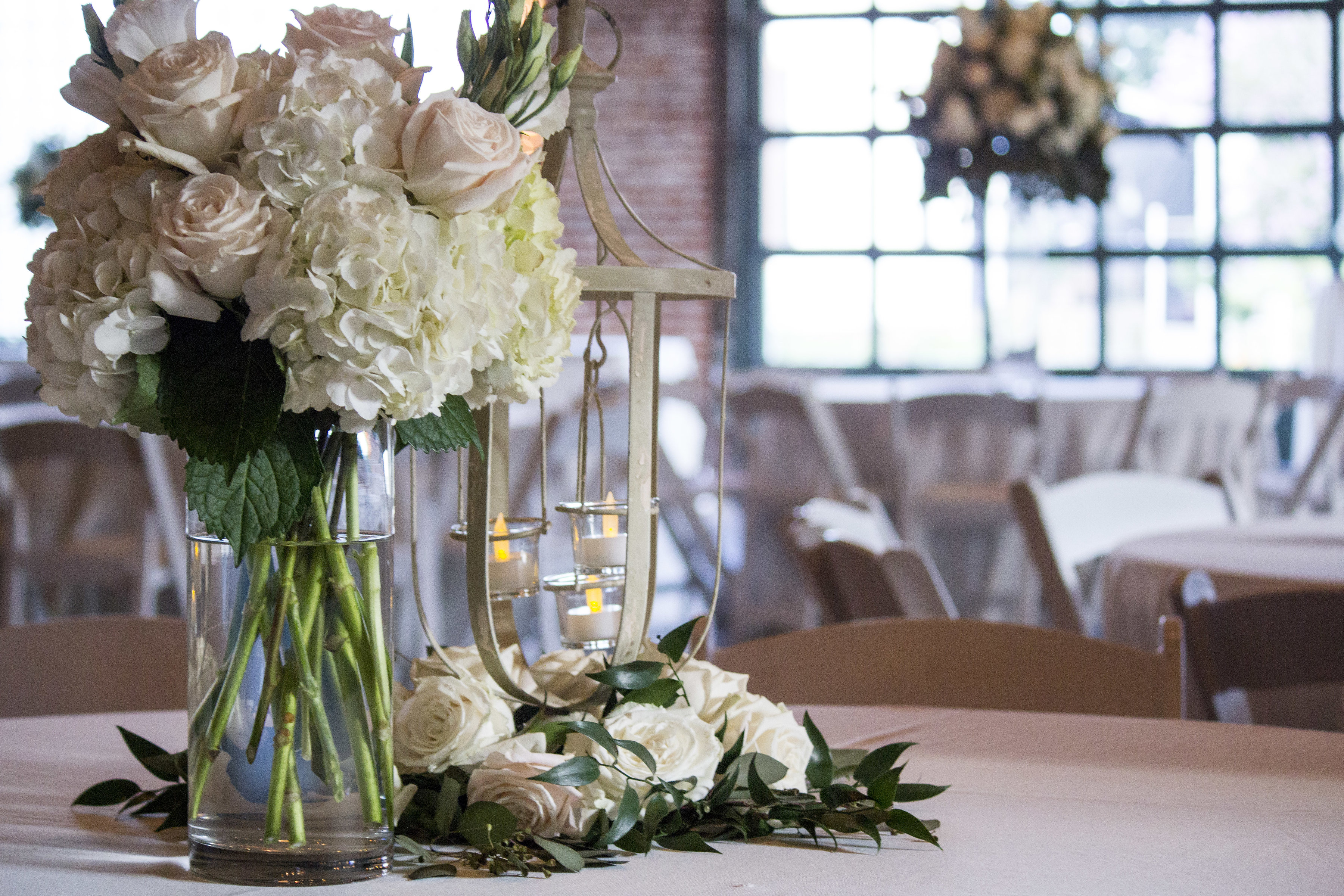 The wedding venue, The Magdalen Place, located in Abbeville, Louisiana is set up for a wedding reception.