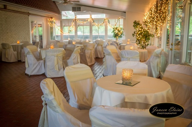A beautiful wedding venue, The Manor, showing an example of one of their tables setup in New Iberia, Louisiana, their location.