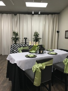 A graduation dinner held at DIY Party venue located in Lafayette, LA.