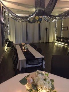 A small wedding reception held at DIY Party venue located in Lafayette, Louisiana.