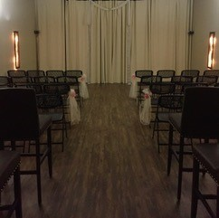 A wedding setup at DIY Party banquet hall located in Lafayette, LA.