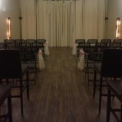 A small, intimate wedding held indoor at DIY Party Venue in Lafayette, LA.