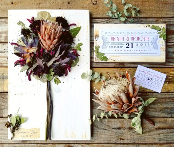 Wedding preservation of brides bouquet by Petal Press Decor located in Lafayette, Louisiana