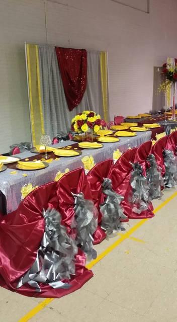 A wedding reception near Lafayette, Louisiana decorated by wedding vendor, Joann Cakelady located in Lafayette, Louisiana.