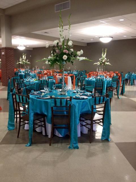A wedding reception near Lafayette, Louisiana, decorated by Fleur de Lis wedding, Bridget Credeur, wedding decorator and coordinator and planner.