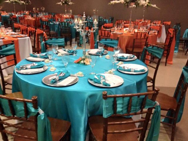 A beautiful wedding reception setup in Lafayette, Louisiana by Fleur de Lis wedding decorator and coordinator, Bridgett Fontenot.