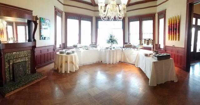Wedding reception setup at the wedding venue located near Lafayette, Louisiana, The Victorian Plantation, in Broussard, Louisiana.