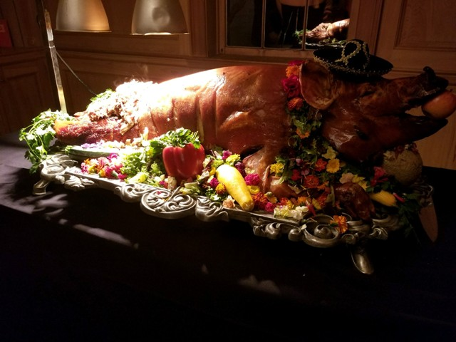 Bon Temps Grill, a wedding catering company located near Lafayette, Louisiana, showing a Whole Roasted Pig.