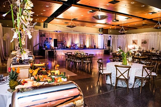 UL Lafayette a wedding venue near Lafayette, Louisiana set up for a wedding reception.