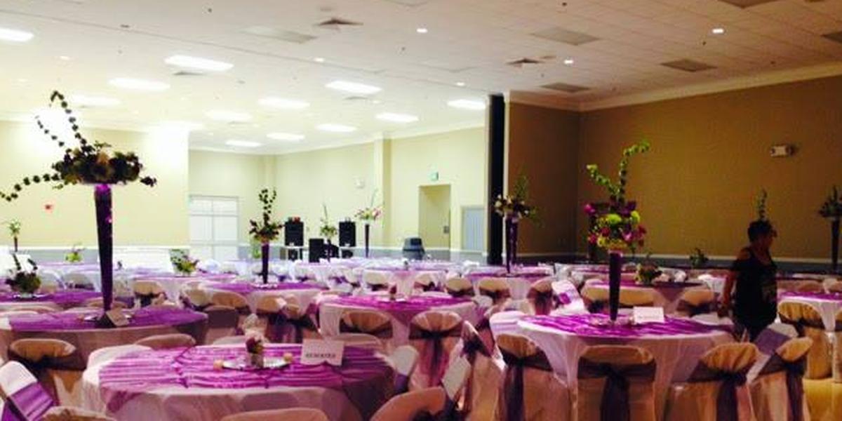 Carencro Community Center wedding reception setup