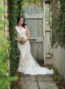 A Bride at Wedding Venue LEglise located in Abbeville, Louisiana