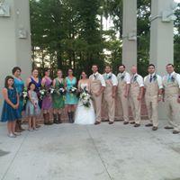 Outdoor wedding at UL Lafayette, Louisiana Student Union