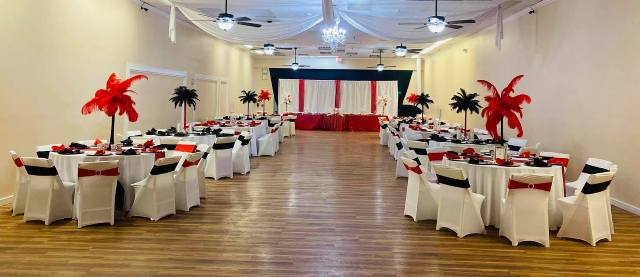 An engagement party at Le Beni, located in Lafayette, Louisiana.