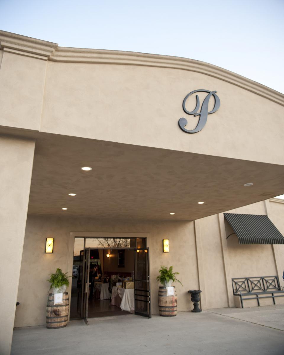 The entrance to Poche Bridge Country Club, a wedding venue located in Breaux Bridge, Louisiana.