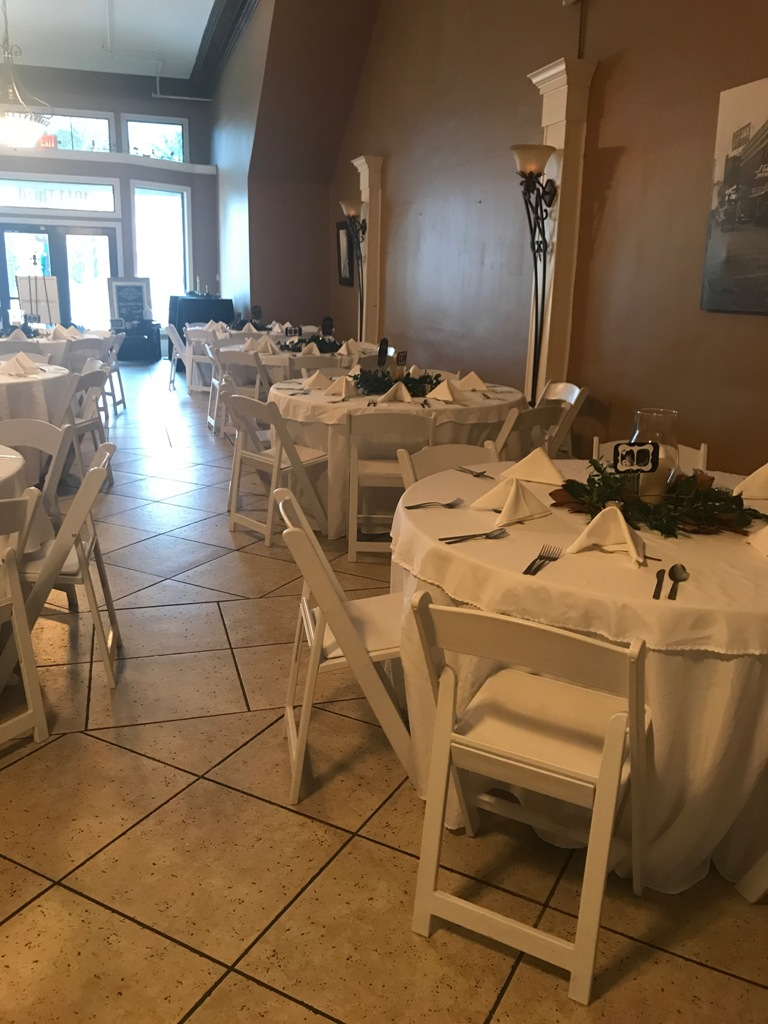 A view of the interior of the wedding venue, The Gem, located in Alexandria, Louisiana.
