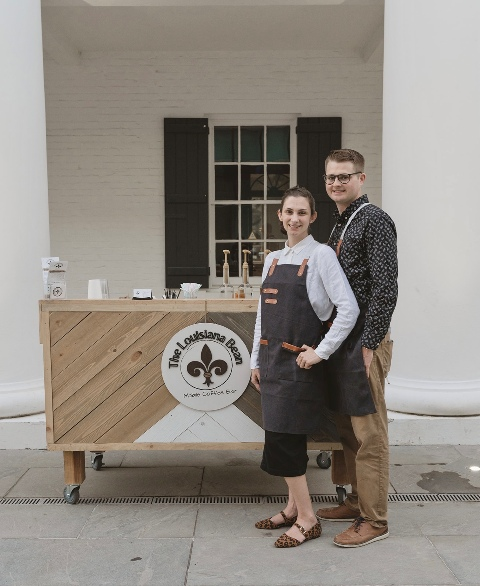 A photo of the owners of The Louisiana Bean, a mobile coffee company in Lafayette, Louisiana.