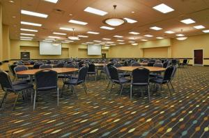 The ballroom setup for business meetings at the Hampton Inn New Iberia, Louisiana.