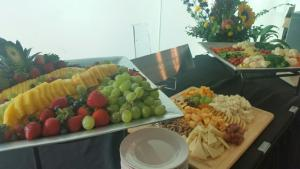 A lovely display of Frui,t Veggie And Cheese prepared by caterer, Bon Temps Grill, located near Lafayette, Louisiana.