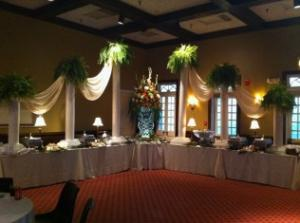 A look at a wedding catering setup for a reception at Brent's Catering and Venue in Sunset, Louisiana.