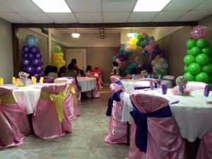 A bridal shower set up at The Gathering Place of Carencro located near Lafayette, Lousiana.