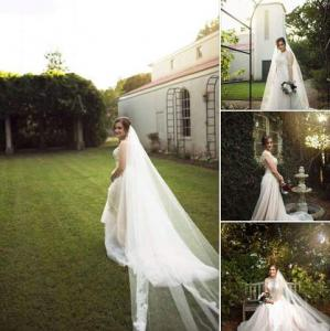Several photos grouped together of a beautiful bride taken in the gardens at L'Eglise, located near Lafayette, Louisiana.