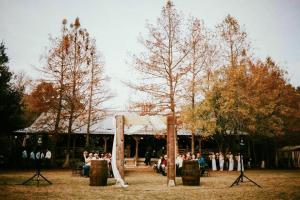 Cypress Grove Wedding Venue outdoor wedding setup in Eunice, Louisiana.