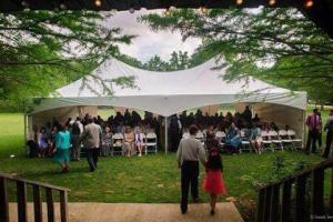 Amazing Cypress Grove Wedding Venue outdoor wedding setup with tent located near Lafayette, Louisiana.