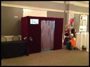 Digital Music Services located in Lafayette, Louisiana, their photo booth setup for wedding receptions and events.