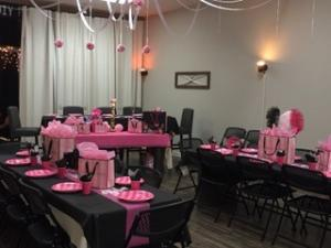 A baby shower setup at DIY Party Venue located in Lafayette, Louisiana.