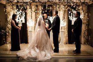 Indoor Wedding at The Ladybug Lodge located near Lafayette, Louisiana