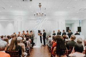 Awsome indoor wedding at the wedding venue called The Majestic Hall of Walnut Grove located in Lake Charles, Louisiana.