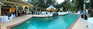 An outdoor wedding reception at the wedding venue located near Lafayette, Louisiana Cajun Mansions.