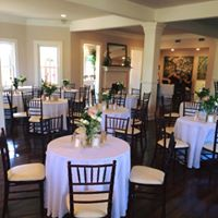Several tables setup for a wedding at Esprit de Coeur which is located near lafayette louisiana.