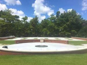 A photo of the outdoor plaza at the wedding venue UL Lafayette in Lafayette, Louisiana.
