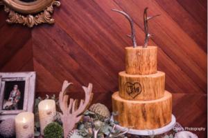 A beautiful cake at the wedding venue Warehouse 535 located near Lafayette, Louisiana.