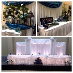 A variety of photos by wedding planner and decorator, Fleur de Lis, located in Lafayette, Louisiana.