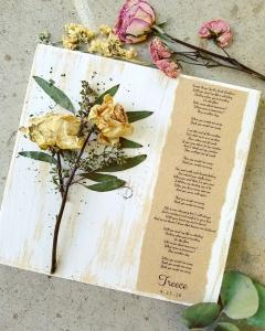 A wedding bouquet peserved by wedding vendor, Petal Press Decor, located in Lafayette, Louisiana.