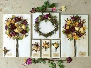 A variety of wedding items perserved by wedding vendor, Petal Press Decor, located in Lafayette, Louisiana.