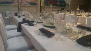A beautiful wedding reception setup at the wedding venue The Wyndham Gardens of Lafayette, Louisiana.