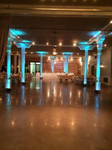 A photo of a wedding venue with uplighting by Mike Schnauder, a DJ with Digital Music Services, located near Lafayette, Louisiana.