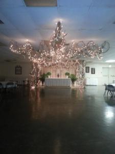 A beautiful wedding reception setup at the ladybug lodge located in lafayette louisiana